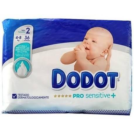 Dodot Pro Sensitive+ T-2 36 unidades