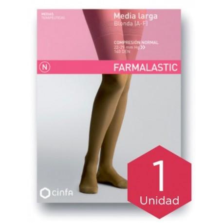 Farmalastic media larga blonda (A-F) comp. normal T-extra grande camel 1ud