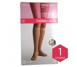 Farmalastic media corta (A-D) compresión normal T-reina plus beige 1ud