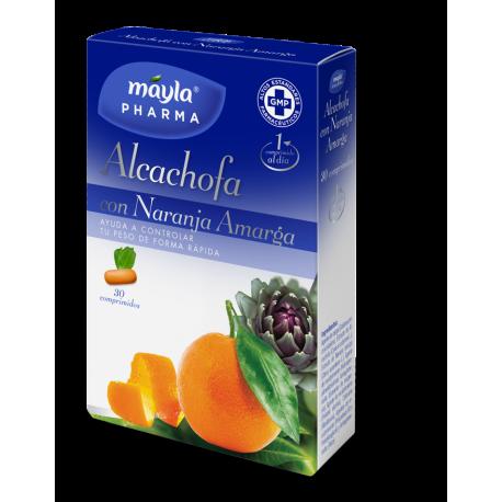 MaylaPharma Alcachofa con Naranja Amarga 30 Comp