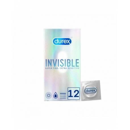Durex Invisible Extra Sensitivo 12 Unidades