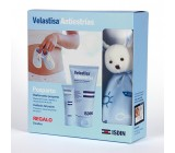 Pack Velastisa Antiestrias Reafirmante Post Parto 150 ml. + Antiestrias Cuidado Pezon 30 ml. (Regalo Muñeco Doudou)