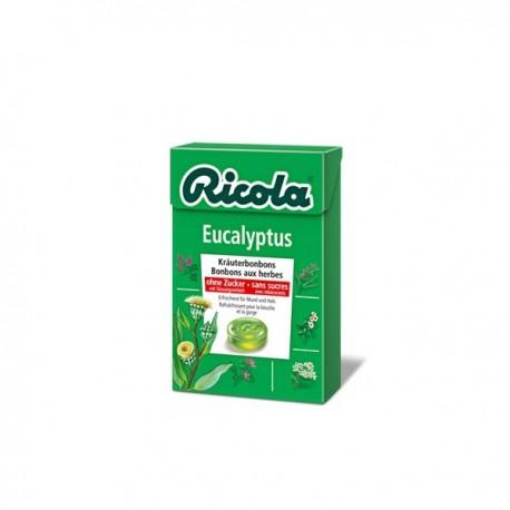 ricola caramelos eucaliptu s/a 50 g.