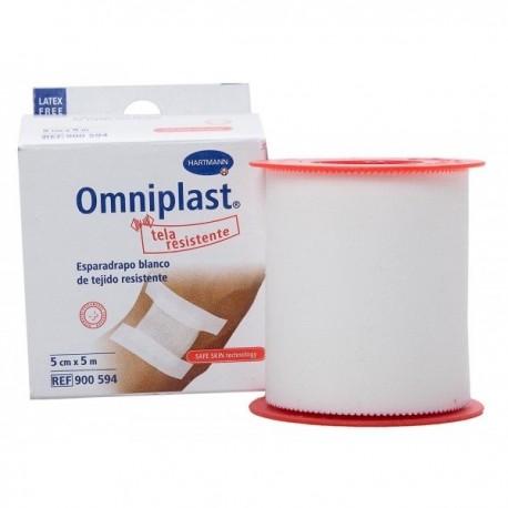 esparadrapo omniplast tela blanco 5x5 cm