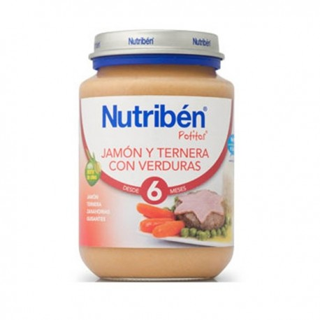 nutriben junior jamon/terner/verdura 200