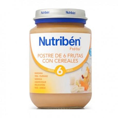 nutriben bebe postre frutas/cereal 130gr