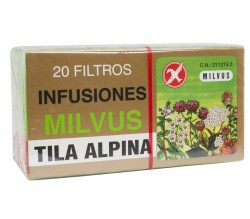 tila alpina sedante milvus 20 filtros