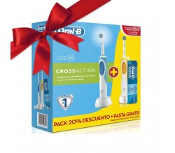 ORAL B CROSSACTION PACK 2 CEPILLOS ELECTRICOS + PASTA ORAL B PRO-EXPERT