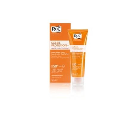 roc protexion crema dermocalmante piel sensible spf 50+