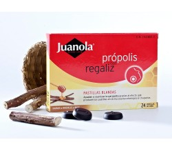 Juanola Pastillas própolis con miel y vitamina C, sabor miel y limón