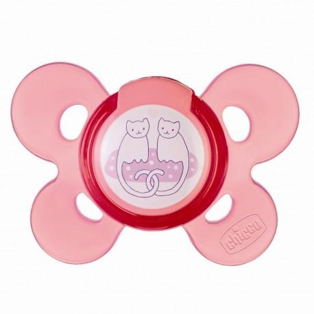 chupete silicona chicco physio comfort 4 m+ rosa