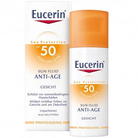 Eucerin, Eucerin Sun Fuid Anti-Age SPF 50+ 50 ml..