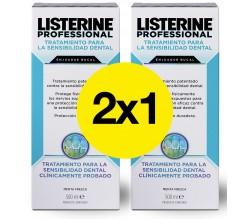 2x1 LISTERINE PROFESIONAL SENSIBILIDAD DENTAL 500 ML