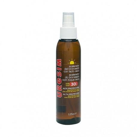 Uresim Aceite Acelerador del Bronceado Tacto Seco SPF 30 125 ml