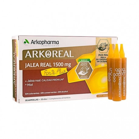 arkoreal jalea real 1500 mg. 20 ampollas