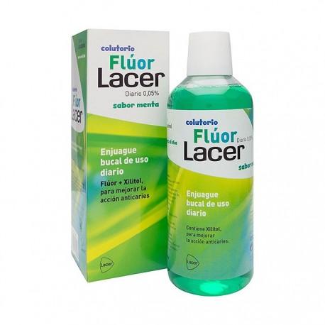 lacer colutorio fluor menta 0,05 500 ml