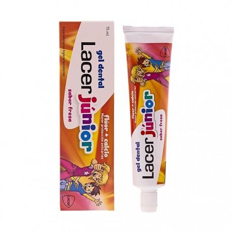 lacer gel dental junior fresa 75 ml.