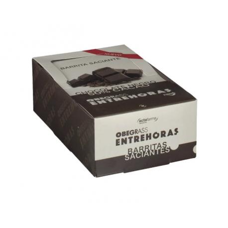 Obegrass Entrehoras Chocolate Negro 20 Unds
