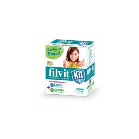 Filvit Kit Tratamiento Antipiojos (Loción, Champú + Liendrera de regalo)