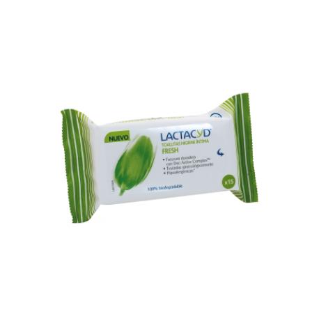 Lactacyd toallitas higiene íntima Fresh 15uds