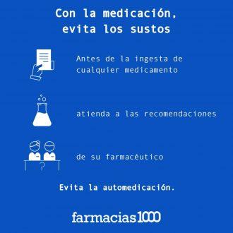 Con la medicación, evita sustos