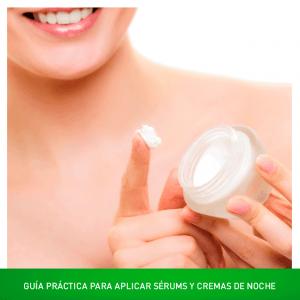 Guía para aplicar serums y cremas de noche con eficacia