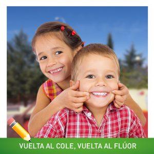 ¡Vuelta al cole, vuelta al flúor! Cuidar los dientes de los pequeños les ayuda a tener una dentadura sana de adultos