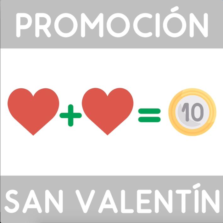 San Valentín 2018: Invita a una persona y llévate 5 euros